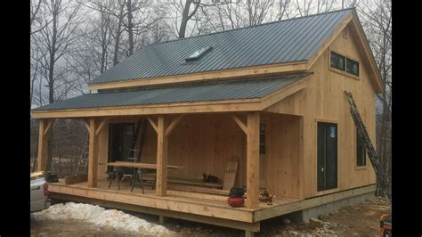20x30 Timber Frame Vermont Cabin Mortise And Tenon 8x8 ...