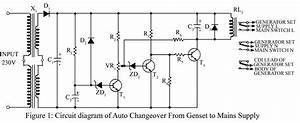 auto changeover from generator to mains supply With transformer inverter charger changeover circuit electronic circuit