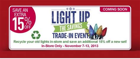 lowe s canada save 15 on lights when you recycle
