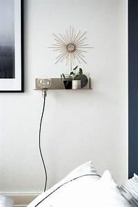 DIY Stylisches Wandregal mit Leuchte paulsvera