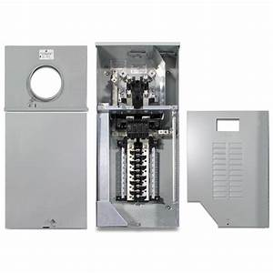Ge 150 Amp 8 Space 16 Circuit Outdoor Combination Main