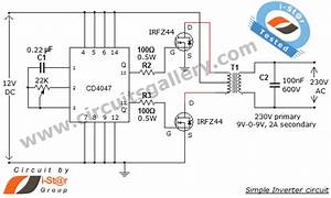 U0026gt  Circuits  U0026gt  Simple Low Power Inverter Circuit 12v Dc To