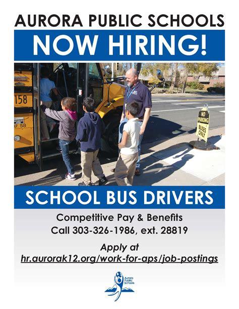 aps transportation department hiring bus drivers aurora public schools