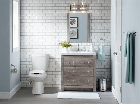 bathroom installation   home depot