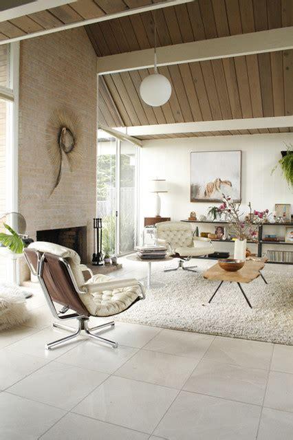 Eclectic Eichler living room Midcentury Living Room