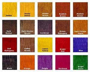 Transtint Wood Dye Color Chart Color Wood Glue & Fillers