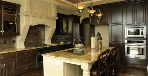 light island  dark cabinets home pinterest