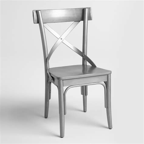 gunmetal wood bistro chairs set of 2 world market