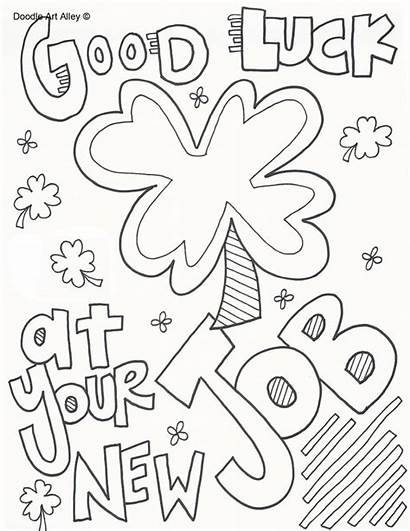 Coloring Job Doodle Luck Nut Printable Alley