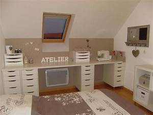 Créer Son Bureau Ikea : am nagement du coin bureau des tiroirs simples sous le ~ Melissatoandfro.com Idées de Décoration