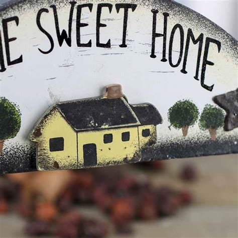 primitive home sweet home wood sign wall art