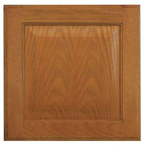 medium oak kitchen cabinets hton bay 12 75x14 in cabinet door sle in medium oak 7422