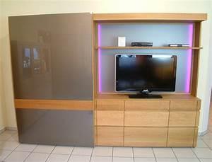 Moderne Tv Möbel : vollholz schrank moderna 282 in eiche ge lt mit 1 ~ Michelbontemps.com Haus und Dekorationen