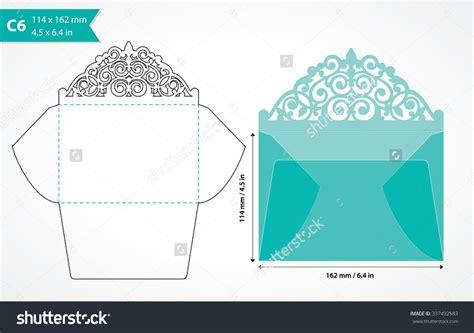 c6 envelope template ai die cut envelope template laser cut vector envelope for