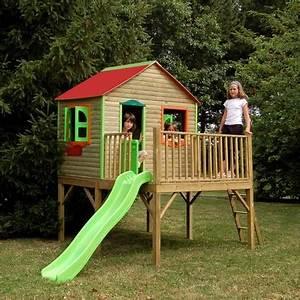 Toboggan Enfant Pas Cher : cabane en bois avec toboggan pas cher l 39 univers du b b ~ Dailycaller-alerts.com Idées de Décoration