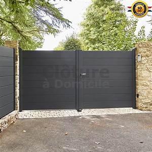 Portail En Aluminium : portail battant en aluminium par aluclos ~ Melissatoandfro.com Idées de Décoration