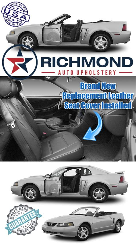 richmond auto upholstery 1999 2004 ford mustang v6 leather seat passenger bottom
