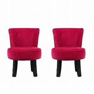 Petit Fauteuil Pas Cher : rendez vous d co petit fauteuil crapaud rose lot de 2 ~ Preciouscoupons.com Idées de Décoration