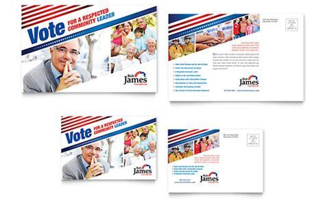 political campaign business card letterhead template