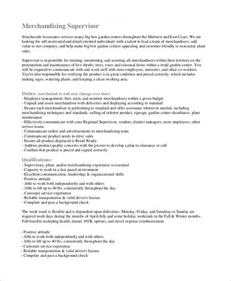 10+ Merchandiser Job Description Samples  Sample Templates
