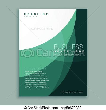 abstract green company magazine cover page brochure design