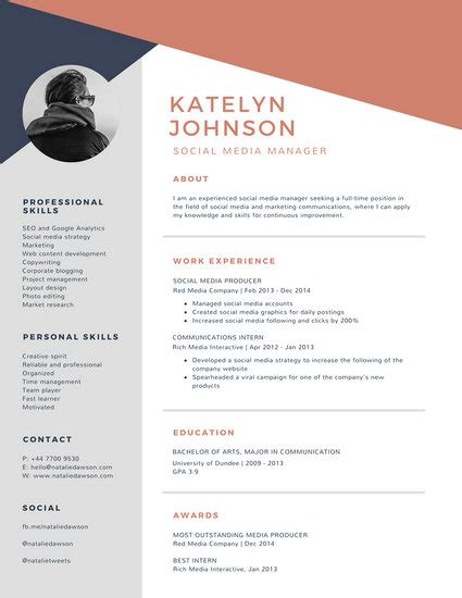 Resume Layout Design by Customize 925 Resume Templates Canva