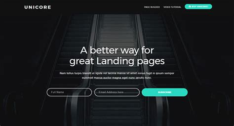 Best Landing Pages 2017 20 Best Landing Page Template Designs 2017 Web Idesignow