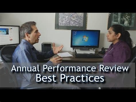 Annual Performance Review Best Practices Youtube