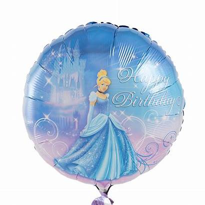 Cinderella Birthday Happy Balloon Inflated Bouquet Helium