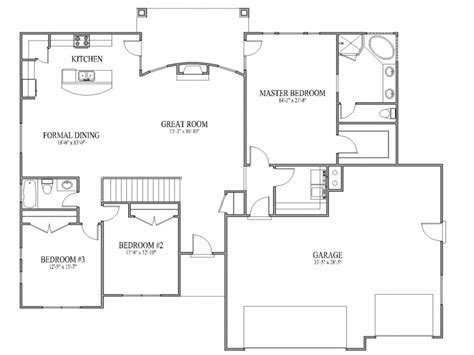 Simple House Plans With Open Floor Plan Simple Affordable