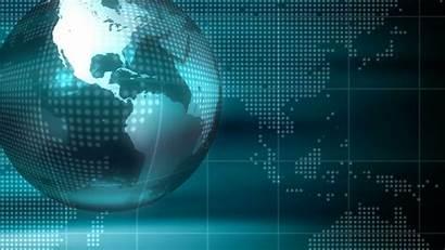 Technology Background Earth Map Rotating Animation Globe