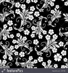 Abstract Patterns: Black And White Floral Pattern - Stock ...