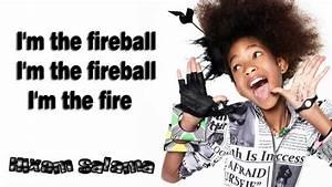 Willow Smith Fireball Ftnikki Minaj Lyrics On Screen