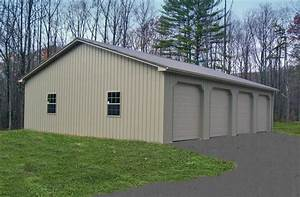 Pole building garages garage builders in pa for 4 car pole barn