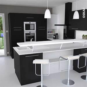 Bar Cuisine Ouverte : modele cuisine ouverte avec bar collection avec modele ~ Melissatoandfro.com Idées de Décoration