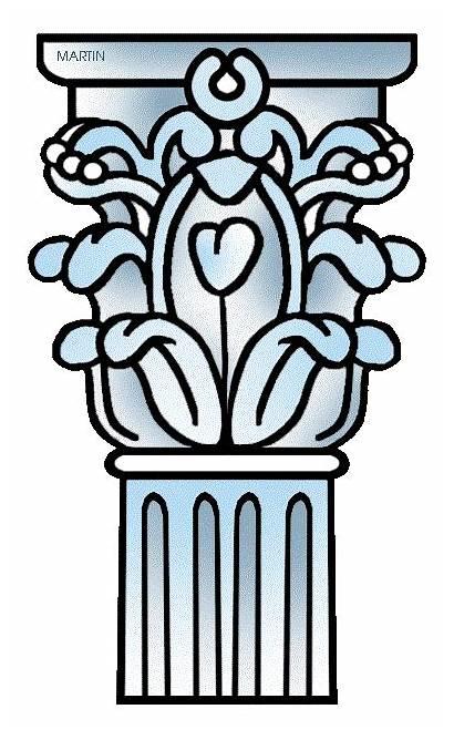 Greek Greece Columns Column Ancient Clipart Architecture