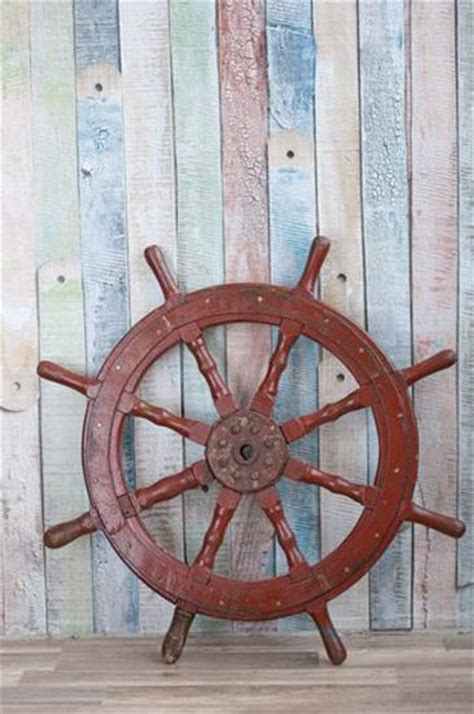 nautical decor ideas enhanced  vintage ship wheels