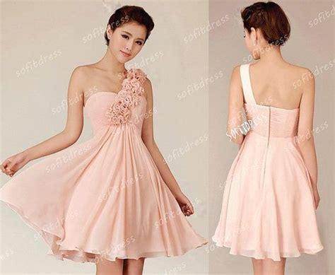 Blush Bridesmaid Dresses, One Shoulder Bridesmaid Dress