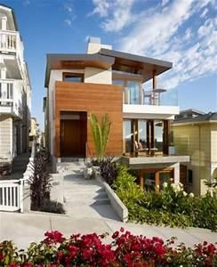 Casa de estilo tropical en la playa