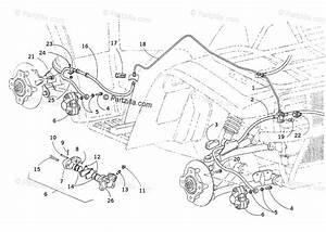 Arctic Cat Atv 2001 Oem Parts Diagram For Hydraulic Brake