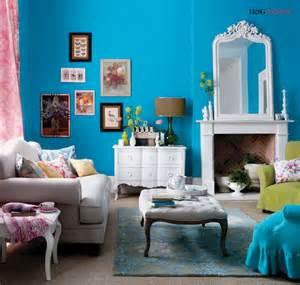 Décoration Salon Bleu Turquoise
