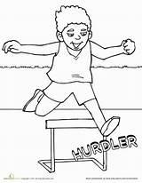 Coloring Track Field Sports Worksheet Activities Education Running Pages Worksheets Hebrews Colouring Sheets Race Hurdles Sport Preschool Jump Pe Runner sketch template