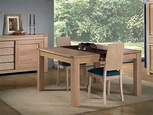 Table Bois Massif Contemporaine : table de repas en ch ne massif format carr avec allonge meubles bois massif ~ Teatrodelosmanantiales.com Idées de Décoration