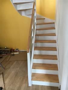 stunning deco escalier bois images ridgewayngcom With peindre un escalier en blanc 4 escalier deco peint en blanc marches et rambarde en bois