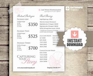 Photography price list pricing list for photographers for Best wedding photography packages
