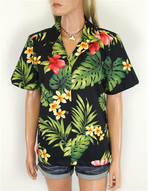 womens hawaiian shirts blouses cotton c shirt for puunene shaka hawaii