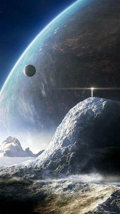 Cool Iphone Wallpapers Background Sci Fi Moon