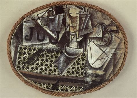 picasso still with chair caning materials different facets of analytic cubism nonsite org