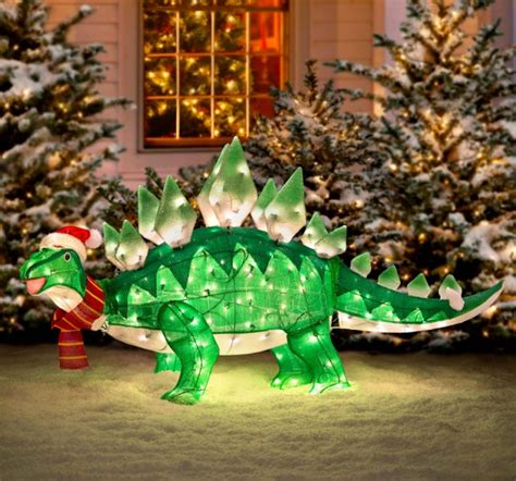 light  animated dinosaur christmas lawn ornament