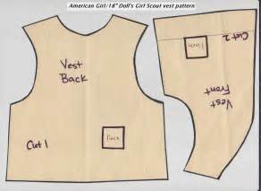 brownie vests scout vest pattern for american doll